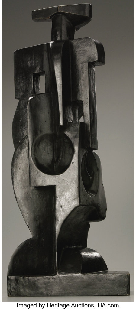 JUAN GRIS (Spanish 1887 - 1927) Harlequin, circa 1917 - 1918 Bronze, unique casting, 1/1 25 x 11 x 6in. Signed and n...