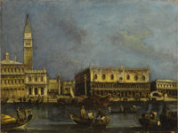 Circle of FRANCESCO GUARDI (formerly called LUCA CARLEVARIJS) (Italian 1712 - c. 1793) View of the Grand Canal, Venice w...