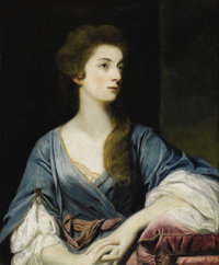 SIR JOSHUA REYNOLDS, P.R.A. (English 1723 - 1792) Portrait of Miss Elizabeth Greenway (Afterwards the Honorable Mrs. Jam...