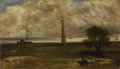 Paintings, Attributed to JOHN CONSTABLE, R.A. (English 1776 - 1837). Walton on the Naze, Essex. Oil on canvas. 7-1/4 x 12-3/4 inche...