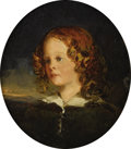 Fine Art - Painting, European:Antique  (Pre 1900), Manner of SIR THOMAS LAWRENCE, P.R.A. (British 1769 - 1830).Portrait of Miss Margaret Rawden. Oil on board. 8-3/4 x7-3...