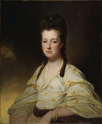 GEORGE ROMNEY (British 1734 - 1802) Portrait of a Lady, said to be Dorothy Cavendish Bentinck, Duchess of Portland (1750...