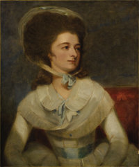 GEORGE ROMNEY (British 1734 - 1802) Portrait of Lady Albinia Cumberland, 1784 Oil on canvas 30 x 25 inches  PROVENA