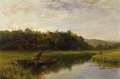 Fine Art - Painting, European:Antique  (Pre 1900), WALTER WALLOR CAFFYN (British 1845 - 1898). Arundel Castle,1889. Oil on canvas. 24 x 36 inches. Signed and dated lower ...