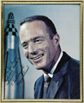 "Transportation:Space Exploration, Early Scott Carpenter Signed Color Photograph, 7.25"" x 9.5""(visible), framed to 8"" x 10"". Inscribed ""For Joe Garino/with... (Total: 1 Item)"