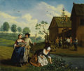 Fine Art - Painting, European:Antique  (Pre 1900), Attributed to JAN JOSEF HOREMANS (Netherlands 1682 - 1759). TheFour Seasons: Spring, Summer, Autumn and Winter (a set o...