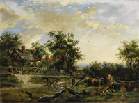 PATRICK NASMYTH (Scottish 1787 - 1831) View of Hampshire, 1830 (a pair of paintings) Oil on canvas 11 x 15 inches (ea