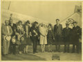 """Transportation:Aviation, Three Photographs Pertaining to Charles and Anne Lindbergh asfollows: 14"""" x 11"""", showing Lindbergh amid a crowd of spectato...(Total: 3 Item)"""