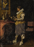 Fine Art - Painting, European:Modern  (1900 1949)  , FERDINAND ROYBET (French 1840 - 1920). A Cavelier. Oil onpanel. 6 x 4-1/2 inches. Signed lower right. PROVENANCE:. Ne...
