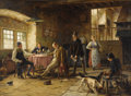 Paintings, GERARD JOZEF PORTIELJE (Belgian 1856 - 1929). The Prank. Oil on canvas. 24-3/4 x 33-3/5 inches. Signed lower left, Ger...