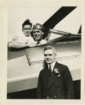 "Transportation:Aviation, Group of 13 Historic Autogiro Photos Featuring Captain John M.Miller, all 8"" x 10"", taken at the Omaha Air Races, 1931. Mil...(Total: 14 Item)"
