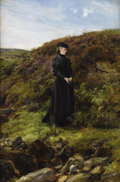 Fine Art - Painting, European:Antique  (Pre 1900), HEYWOOD HARDY (British 1843 - 1933). Lady in a Landscape.Oil on canvas. 24 x 16 inches. Signed lower right, HeywoodH...