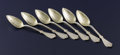 Silver Flatware, American:Other , A Set of Six American Silver and Silver Gilt Spoons. . Unknownmaker, American. Circa 1875-1900. Silver and silver gilt. Mar...
