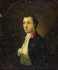 Fine Art - Painting, American:Antique  (Pre 1900), Attributed to JOHN WOLLASTON (English circa 1775). Portrait of a Young Man said to be Washington: The Leger Portrait, ci...