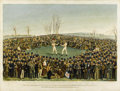 Paintings, VICTOR DUBREUIL (American, active 1880 - 1910). The International Contest between Heenan & Sayers, circa 1880s. Oil on c...