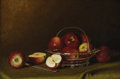 Fine Art - Painting, American:Antique  (Pre 1900), THOMAS H. HOPE (American 1832 - 1926). Still Life withApples, 1898. Oil on canvas. 13-1/2 x 20-1/2 inches. Signedwith ...