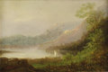Fine Art - Painting, American:Antique  (Pre 1900), Attributed to ASHER BROWN DURAND (American 1796 - 1886). Sailingon Lake George, 1881. Oil on board. 6-1/4 x 9 inches. S...