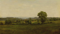 ALEXANDER H. WYANT (American 1836 - 1892) Early Landscape Oil on canvas 6-1/2 x 12 inches  PROVENANCE: Property of
