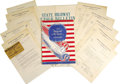 "Transportation:Aviation, 1934 Cleveland National Air Races Program and Related Ephemera. 9""x 12"", 52 pages, paper covers, has a vertical fold down t...(Total: 1 Item)"