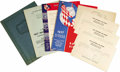 "Transportation:Aviation, 1937 Cleveland Air Races Archive including a copy of the officialschedule of events, 8.5"" x 11"", 16 pages, paper covers, in...(Total: 1 Item)"