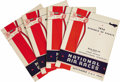 Transportation:Aviation, Collection of 1936 Los Angeles National Air Races Programs.Includes four copies of the schedule of events for the race, 8.5...(Total: 4 Item)