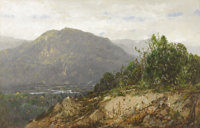 WILLIAM LOUIS SONNTAG (American 1822 - 1900) Landscape (probably West Virginia), circa 1860s Oil on canvas 20 x 30
