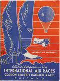 Transportation:Aviation, 1933 Chicago International Air Races Program and Related AviationEphemera. This lot includes a copy of the official program...(Total: 2 Item)