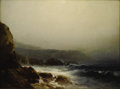 Fine Art - Painting, American:Antique  (Pre 1900), WILLIAM M. HART (American 1823 - 1894). Connecticut Coast.Oil on canvas. 7 x 9 inches. Signed lower left, W. Hart. ...