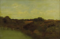 Paintings, RICHARD PAULI (American 1855 - 1892). Evening on the Hackensack. Oil on canvas. 16 x 24 inches. Signed lower right. PR...