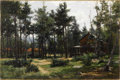 Fine Art - Painting, American:Modern  (1900 1949)  , HUGH BOLTON JONES (American 1848 - 1927). Houses, Mt. McGregor,NY. Oil on canvas. 16 x 24 inches. Signed lower right. ...