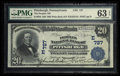 National Bank Notes:Pennsylvania, Pittsburgh, PA - $20 1902 Plain Back Fr. 650 The Peoples NB Ch. #(E)727. ...