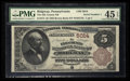 National Bank Notes:Pennsylvania, Ridgway, PA - $5 1882 Brown Back Fr. 474 The Elk County NB Ch. # 5014. ...