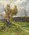 Fine Art - Painting, American:Antique  (Pre 1900), HUGH BOLTON JONES (American 1848 - 1927). Fall Landscape,circa 1890s. Oil on canvas. 36 x 30 inches. Signed lower right...