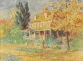 Fine Art - Painting, American:Antique  (Pre 1900), THOMAS POLLOCK ANSHUTZ (American 1851 - 1912). AutumnStroll, circa 1895 - 1905. Watercolor on paper. 17-3/4 x 23-1/2in...