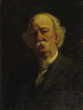 American:Portrait & Genre, STACY TOLMAN (American 1860 - 1935). Mark Twain. Oil oncanvas. 24 x 18 inches. Signed lower right. ...