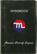 "Transportation:Aviation, Engine Handbook for Menasco ""Pirate"" Model B4 Aircraft Engine,published by the Menasco Manufacturing Company, Los Angeles, ...(Total: 1 Item)"