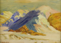 American:Western, WILLIAM ROBINSON LEIGH (American 1866-1955). Badlands. Oil on board. 10in. x 14in.. Signed lower left. ...