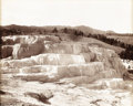 Photography :Other , FRANK JAY HAYNES (American 1853 - 1921). Minerva Terrace,Yellowstone, Wyoming, circa 1880s. Silver print. 17-1/4 x21-7...