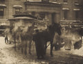 Photographs:Historical Photographs, ALFRED STIEGLITZ (American 1864 - 1946). The Terminal, 1892. Photogravure. Printed from original negatives. 51/4 x 61/4 ...