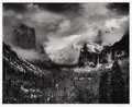 Photographs:20th Century, ANSEL ADAMS (American 1902 - 1984). Clearing Winter Storm,Yosemite Valley, California. negative made circa 1935,printe...