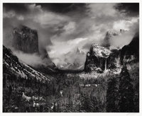ANSEL ADAMS (American 1902 - 1984) Clearing Winter Storm, Yosemite Valley, California negative made circa 1935, printe...