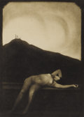 Photographs, FRANTISEK DRTIKOL (Czech 1883 - 1961). Untitled (Crucifixion with Recumbent Nude), 1923, and Untitled (Female Crucifix... (Total: 2 Items)