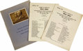 Transportation:Aviation, 1943 Program and Seating List for a Dinner Commemorating the 40th Anniversary of the First Flights of the Wright Brothers. C... (Total: 3 Item)