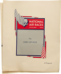 Transportation:Aviation, 1931 Proposal for the Establishment of the Cord InternationalSweepstake Handicap Air Derby. This is a copy of a proposal su...(Total: 1 Item)