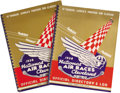 "Transportation:Aviation, Two Copies of the 1938 Cleveland National Air Races OfficialDirectory and Log. 10"" x 13"", 64 pages, paper covers, spiral bi...(Total: 2 Item)"