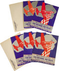 "Transportation:Aviation, Lot of Seven 1939 Cleveland National Air Races Official Schedule ofEvents. 8"" x 11.5"", 12 pages, staple bound, paper covers... (Total:7 Item)"