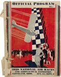 "Transportation:Aviation, Official Program for the 1929 National Air Races in Cleveland. 8"" x11"", 64 pages, staple bound, paper covers, illustrated, ... (Total:2 Item)"