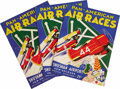 "Transportation:Aviation, Lot of Four 1934 New Orleans Pan-American Air Races Official Directories. 9"" x 12"", 22 pages, staple bound, paper covers, il... (Total: 4 Item)"