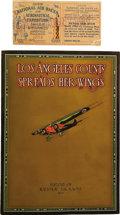 Transportation:Aviation, Los Angeles County Spreads Her Wings, History of theNational Air Races 1928. published by the Los Angeles Chamber o...(Total: 2 Item)