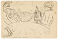 Fine Art - Painting, American:Modern  (1900 1949)  , OSCAR BLUEMNER (American 1867 - 1938). West Bloomfield,August 25, 1921. Graphite on paper. 5 x 7-3/8 inches. Artist's i...
